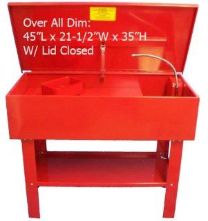 40 Gallon Parts Washer Cleaner w/ Pump Shelf & Basket