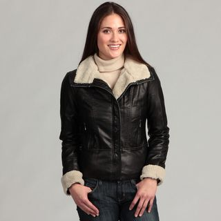 Collezione Womens Faux Leather Jacket