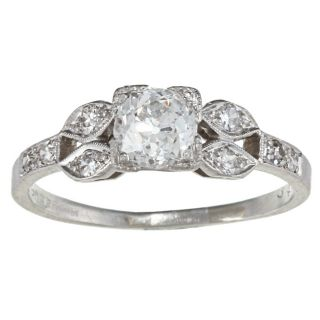 Platinum 1ct TDW Diamond Engagement style Estate Ring (H 1, SI1 SI2