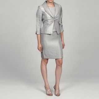 Jessica Howard Womens Petite 2 piece Split Sleeve Jacket Dress