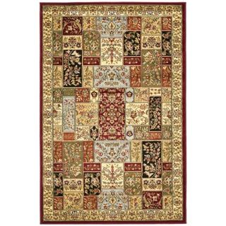Lyndhurst Collection Traditional Multicolor/ Ivory Rug (4 x 6