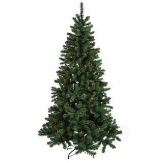 Good Tidings Slim PVC Balsam 350 Multi Colored 7 foot Christmas Tree