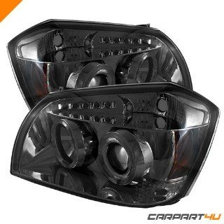 Dodge Magnum 05 08 Halo LED Projector Headlights   Smoke