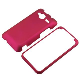 Snap on Hot Pink Rubber Coated Case for HTC EVO Shift 4G