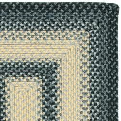 Hand woven Reversible Multicolor Braided Rug (23 x 12)