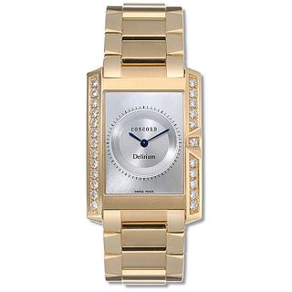 Concord Delirium Mens 18k Yellow Gold Quartz Watch