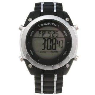 Unlisted by Kenneth Cole Mens White Rubber Strap Digital Watch UL1206
