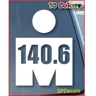 Ironman Triathlon Logo 140.6 Car Window Vinyl Decal