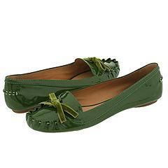 Kate Spade Lacey Basil Green Leather Flats